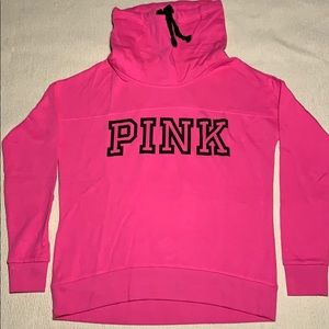 NEW PINK Victoria's Secret Cowl Neck Sweatshirt